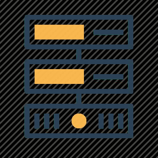 center, data, database, hosting, rack, server, web icon