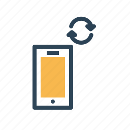 data, device, mobile, network, sharing, smartphone, sync icon