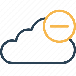 cloud, data, from, online, remove, storage icon