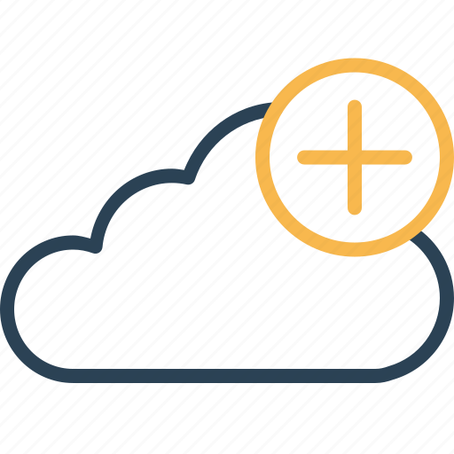 add, backup, cloud, data, file, server, to icon