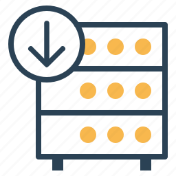 data, databse, download, hosting, rack, server icon