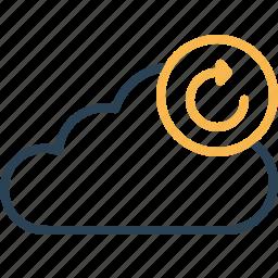 cloud, data, refresh, server, storage, sync, synchronization icon