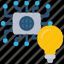 network, solutions, ideas, lightbulb, globegrid