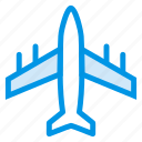aircraft, airplane, airport, flight, fly, plane, travel icon
