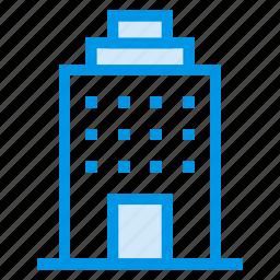 bank, building, college, hotel, school, tower, university icon