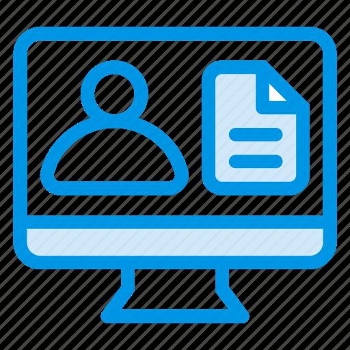 business, chart, investigation, monitor, present, presentation, profile icon