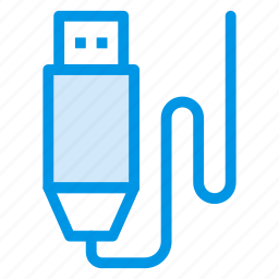 cable, charging, connection, connector, datacable, plug, usb icon