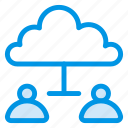 account, cloud, communication, computing, data, people, user icon