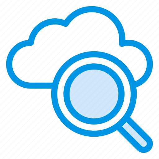 cloud, computing, find, internet, magnify, search, storage icon