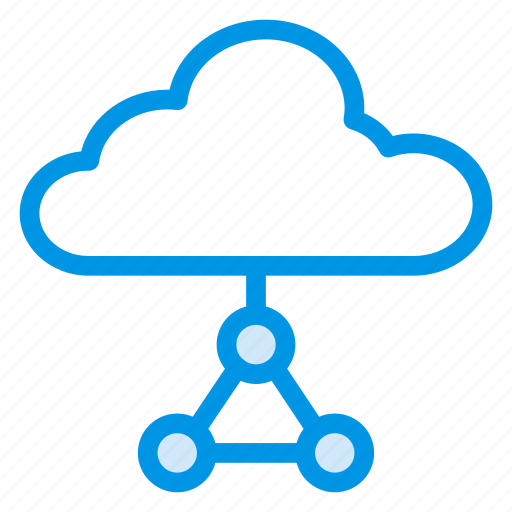 cloud, computing, devices, network, service, share, storage icon