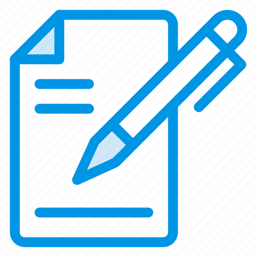 content, edit, editing, paper, pen, pencil, writing icon