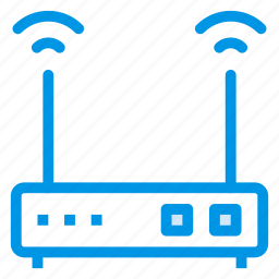 device, internet, mobile, router, signal, wifi, wireless icon