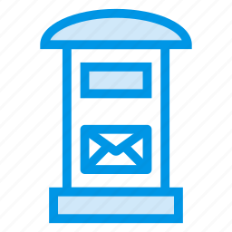 box, email, inbox, letterbox, message, postal, postbox icon