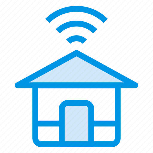 connected, connection, home, house, internet, wifi, wireless icon