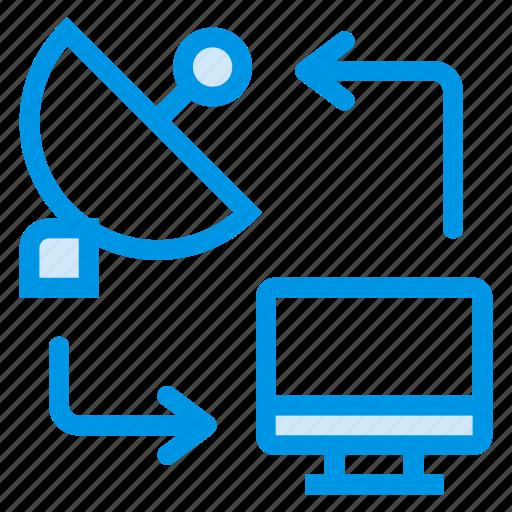 connection, database, digital, internet, media, wifi, wireless icon