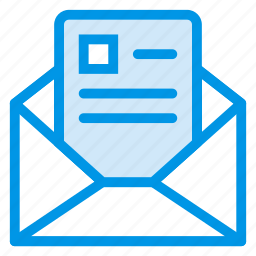 email, envelope, letter, mail, open, openmail, post icon