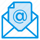business, email, envelope, letter, mail, open, post icon