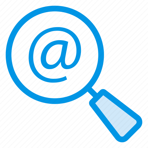 communications, find, magnifier, magnify, mail, message, search icon