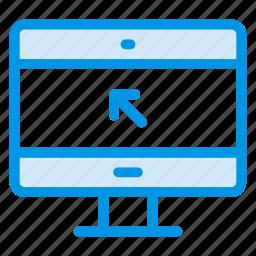 computer, desktop, display, monitor, optimization, screen, technology icon