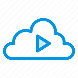 audio, cloud, media, music, play, service, streaming icon