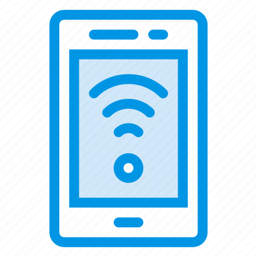 communication, device, mobile, phone, signals, tablet, wifi icon