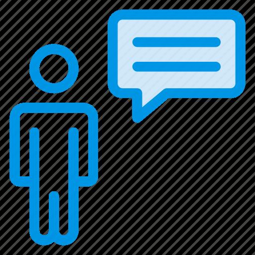 bubble, chat, message, profile, support, talk, user icon