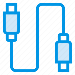 cable, connector, datacable, device, plug, tech, usb icon