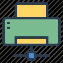 communication, computing, connection, network, print, printer, shareprinter icon