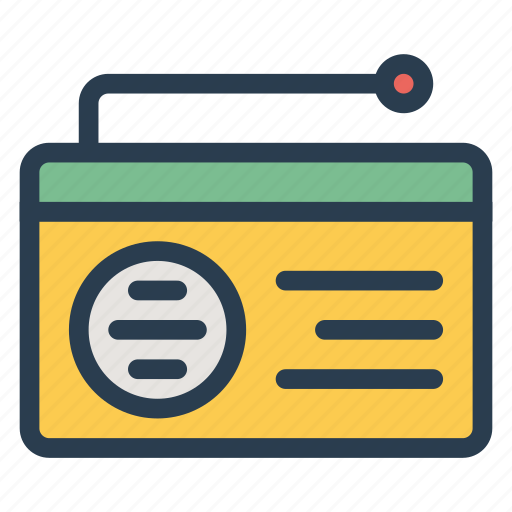 broadcast, communication, electricity, fmradio, media, radio, radioset icon