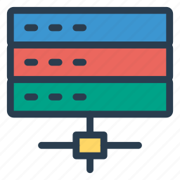 connect, database, network, server, share, social, storage icon