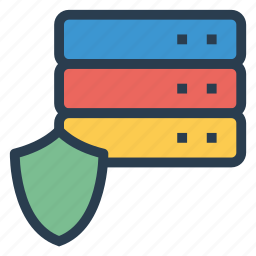 database, datasecurity, internet, lock, privacy, security, server icon