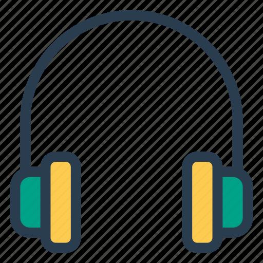 earphone, handsfree, headphone, headset, listening, media, music icon