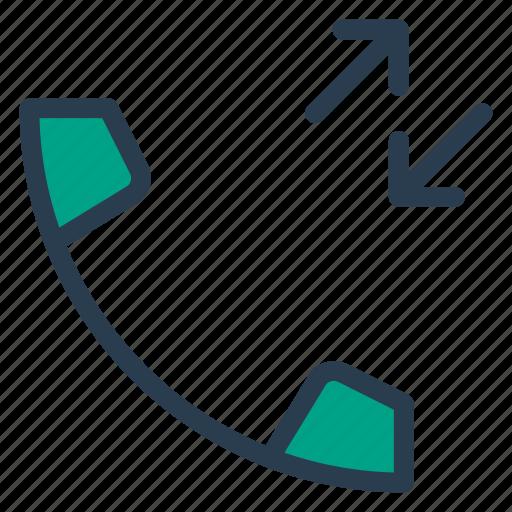 call, incoming, outgoing, phone, receivedcall, socialmedia, talk icon