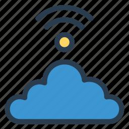 cloud, internet, network, signal, technology, wifi, wireless icon