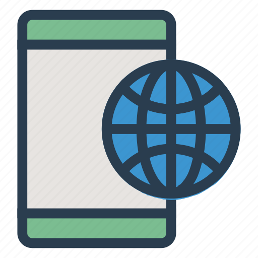 browsing, connection, globe, internet, internetbrowser, mobile, network icon