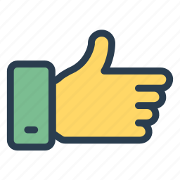 favorite, follow, like, love, thumbs, up, vote icon