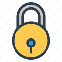 coding, custom, file, lock, padlock, password, protection icon