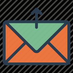 archivie, backup, email, envelope, letter, mail, upload icon