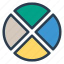 connection, graph, network, target, analytics icon