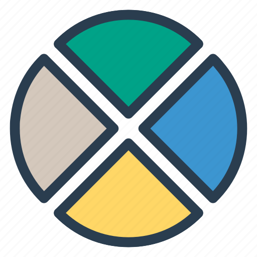 analytic, connection, graph, network, target icon