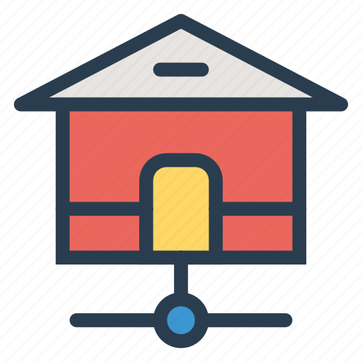 connection, home, homepage, house, internet, share, web icon