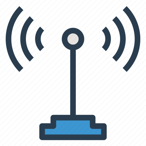 antenna, device, internet, phone, signal, technology, tower icon