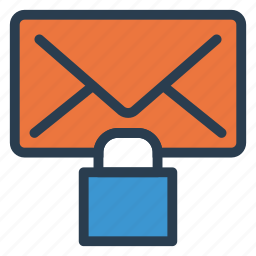 email, envelope, letter, lock, mail, message, sms icon