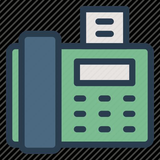 device, fax, faxmachine, machine, paper, print, printer icon