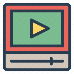 file, formats, media, movie, play, streaming, video icon