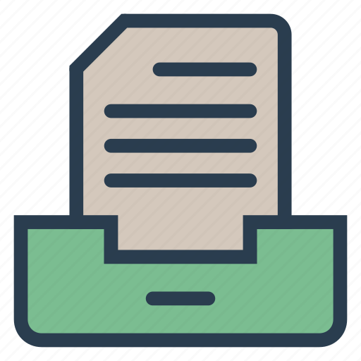 archive, box, document, file, folder, office, project icon