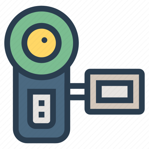 camcorder, camera, film, footage, recorder, technology, video icon