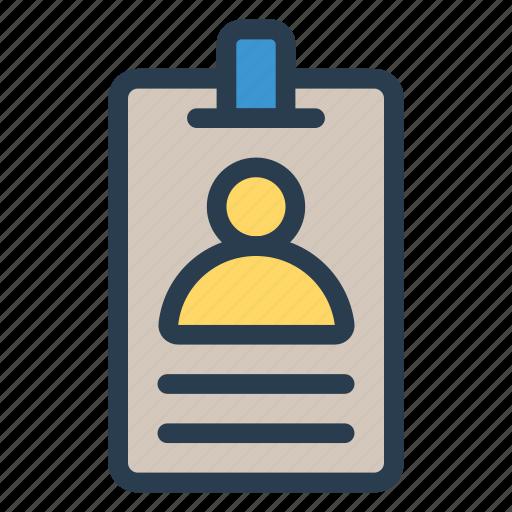 card, employee, id, identification, identity, passport, profile icon