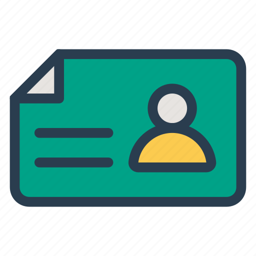 card, certify, communication, employee, id, idcard, identity icon
