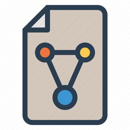 chart, column, data, file, information, page, share icon